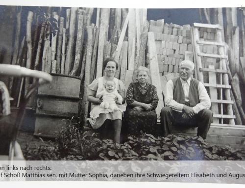 1942: Mutter Sophia Thelen mit Sohn Matthias